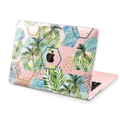 Lex Altern Hard Plastic MacBook Case Abstract Palms