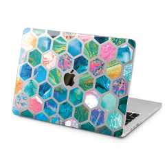 Lex Altern Lex Altern Blue Combs Case for your Laptop Apple Macbook.