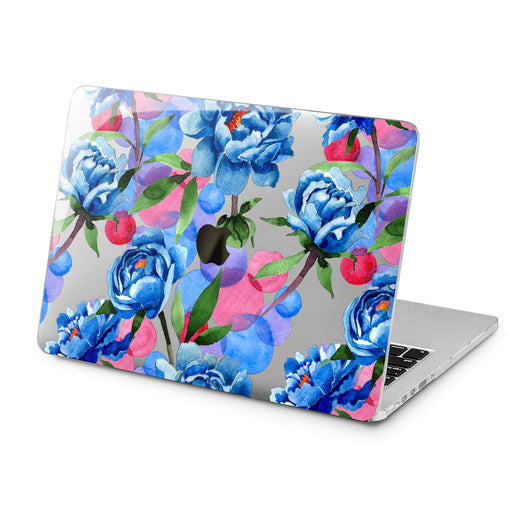 Lex Altern Lex Altern Blue Peonies Case for your Laptop Apple Macbook.