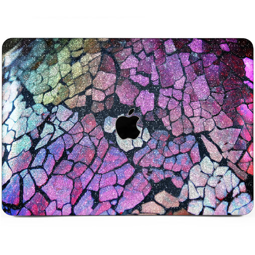 Lex Altern MacBook Glitter Case Cracked Paint
