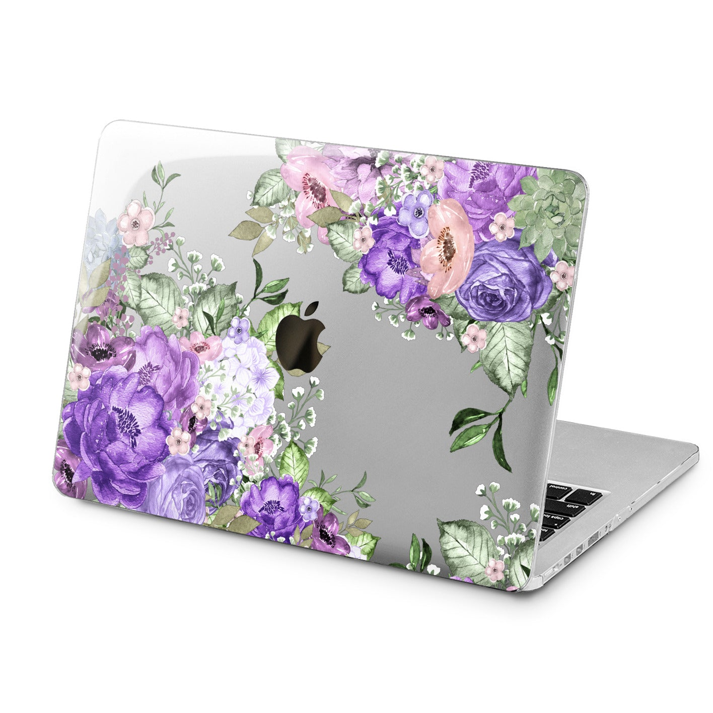 Lex Altern Lex Altern Purple Floral Pattern Case for your Laptop Apple Macbook.