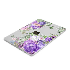 Lex Altern Hard Plastic MacBook Case Purple Floral Pattern