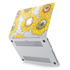 Lex Altern Hard Plastic MacBook Case Bright Sunflowers