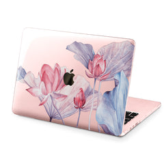 Lex Altern Hard Plastic MacBook Case Tender Pink Lotuses
