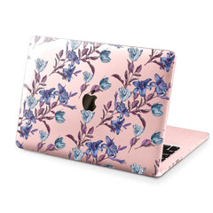 Lex Altern Hard Plastic MacBook Case Elegant Purple Flowers