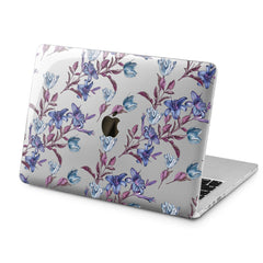 Lex Altern Lex Altern Elegant Purple Flowers Case for your Laptop Apple Macbook.