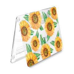 Lex Altern Hard Plastic MacBook Case Colorful Sunflowers