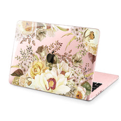 Lex Altern Hard Plastic MacBook Case White Flowers Pattern