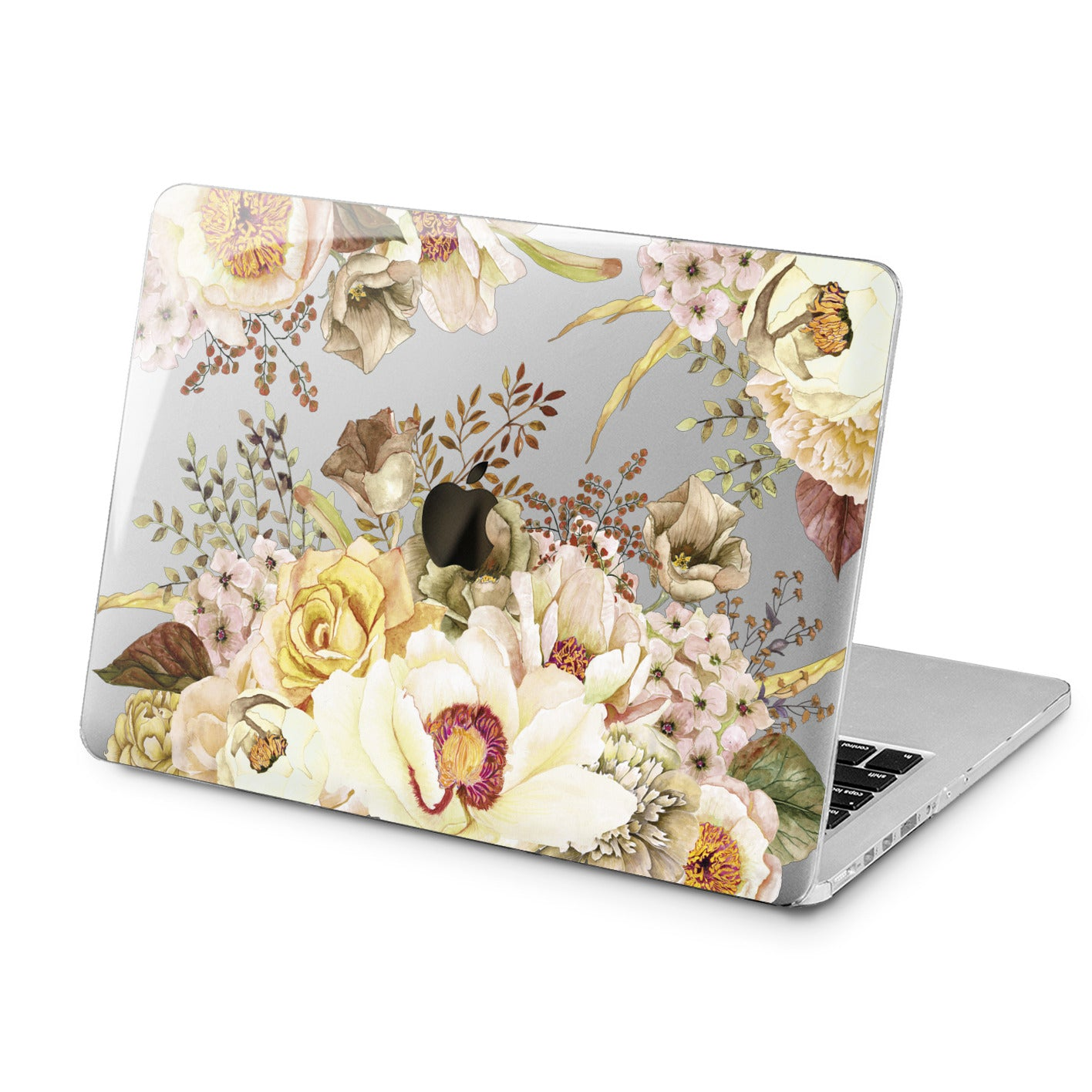 Lex Altern Lex Altern White Flowers Pattern Case for your Laptop Apple Macbook.