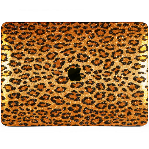 Lex Altern MacBook Glitter Case Leopard Texture