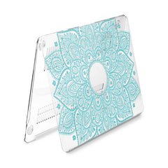 Lex Altern Hard Plastic MacBook Case Blue Mandala