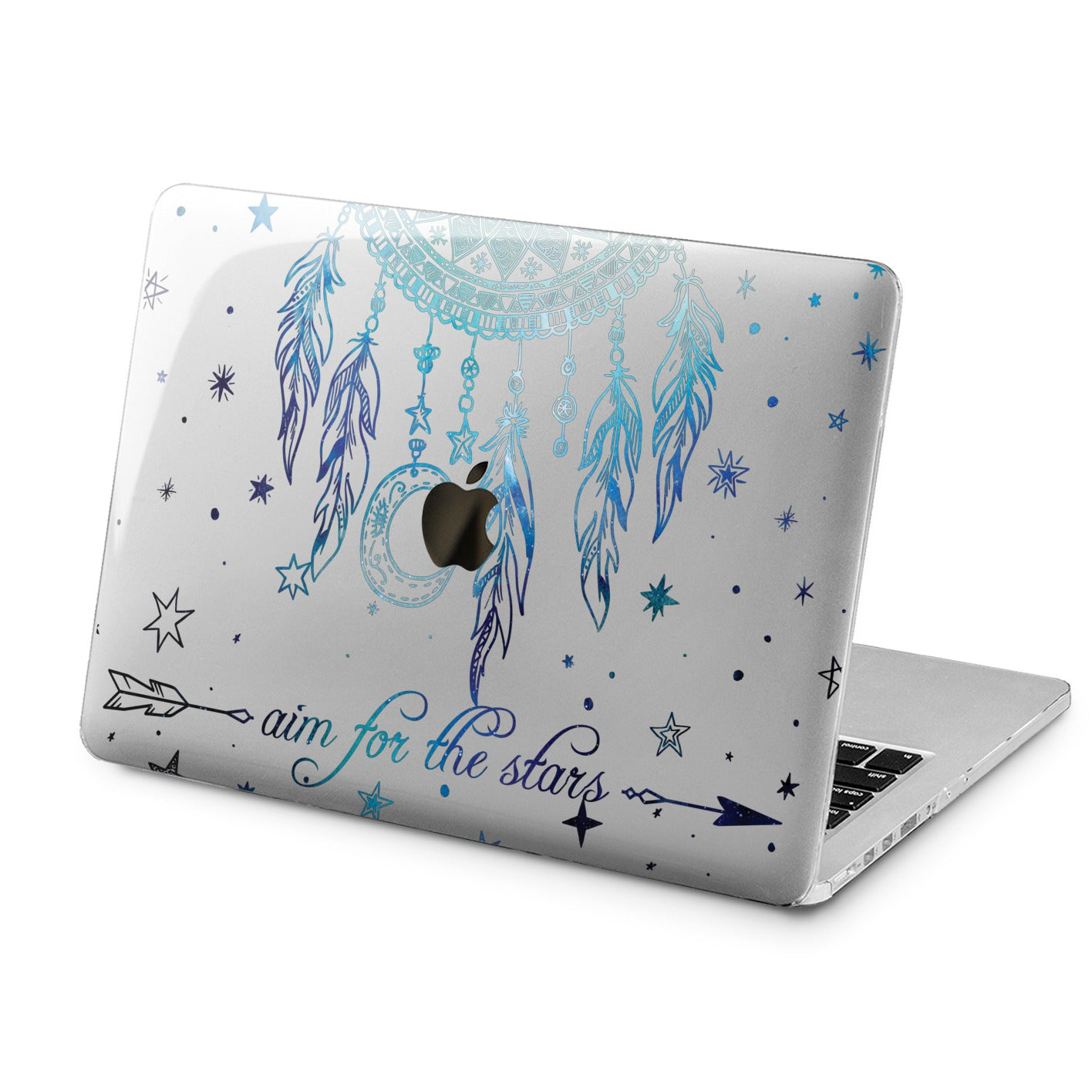 Lex Altern Lex Altern Blue Dreamcatcher Case for your Laptop Apple Macbook.