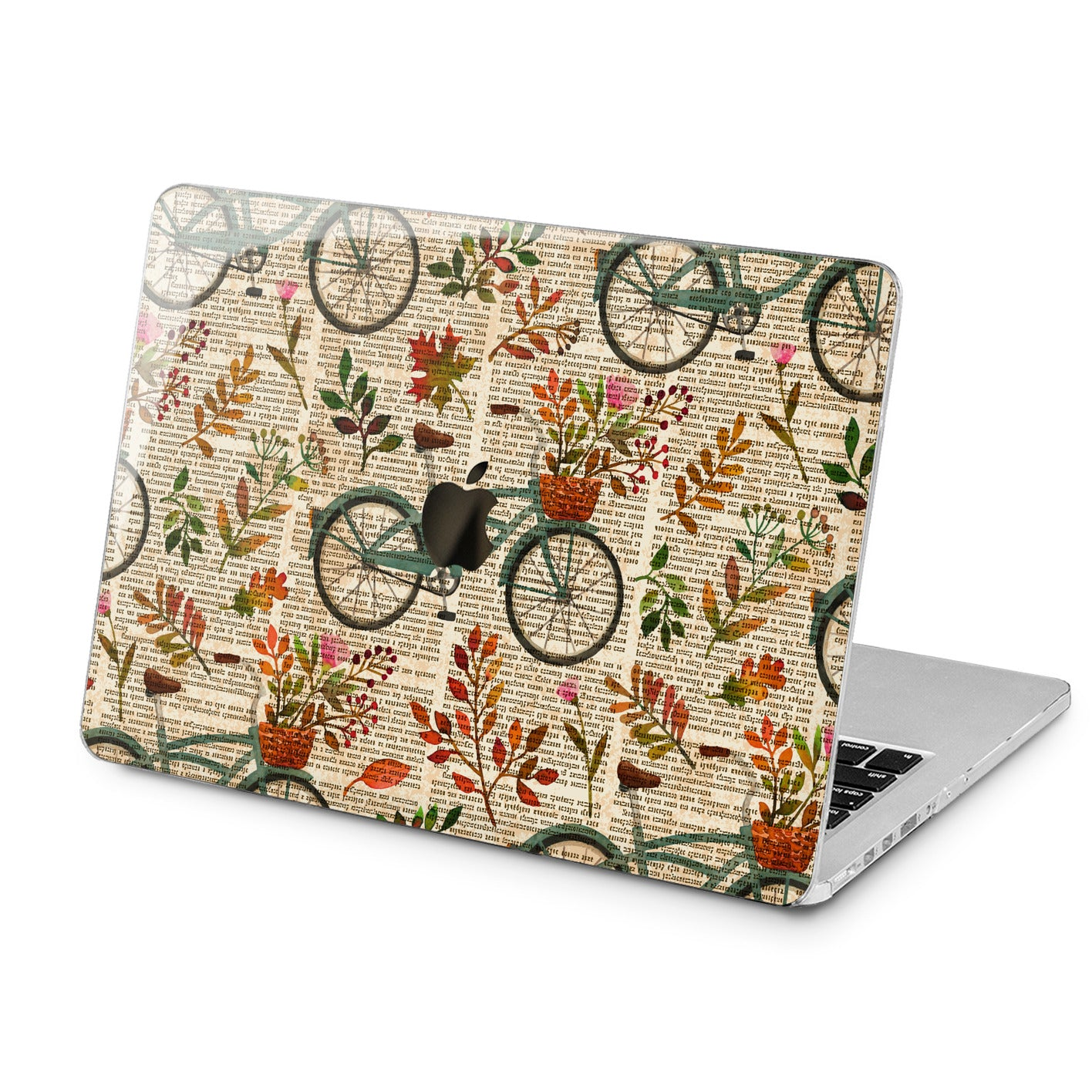 Lex Altern Lex Altern Floral Bicycle Theme Case for your Laptop Apple Macbook.