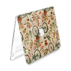 Lex Altern Hard Plastic MacBook Case Floral Bicycle Theme