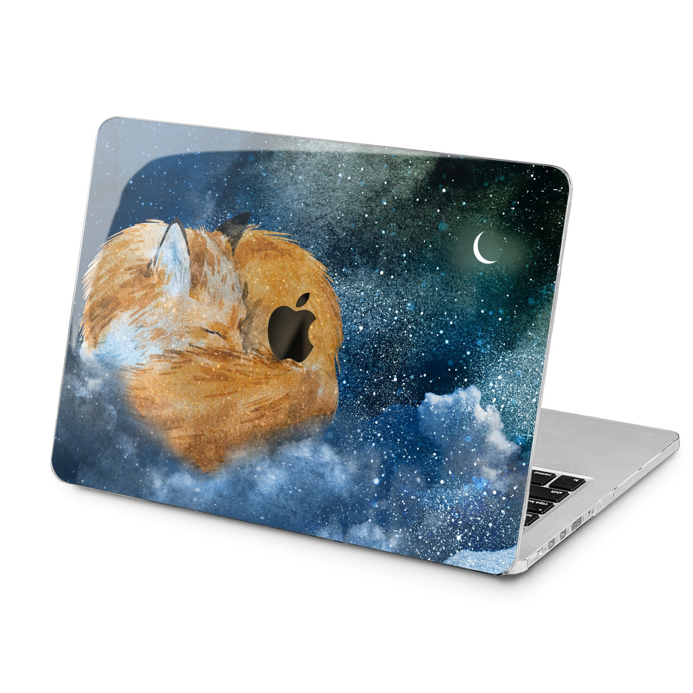 Lex Altern Lex Altern Painted Sleepy Fox Case for your Laptop Apple Macbook.