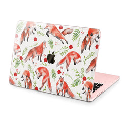 Lex Altern Hard Plastic MacBook Case Colorful Foxes
