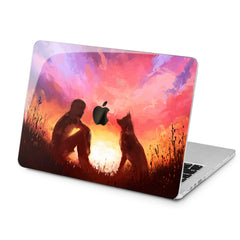 Lex Altern Lex Altern Watercolor Friendly Dog Case for your Laptop Apple Macbook.