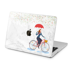 Lex Altern Lex Altern Floral Rain Bicycle Pattern Case for your Laptop Apple Macbook.