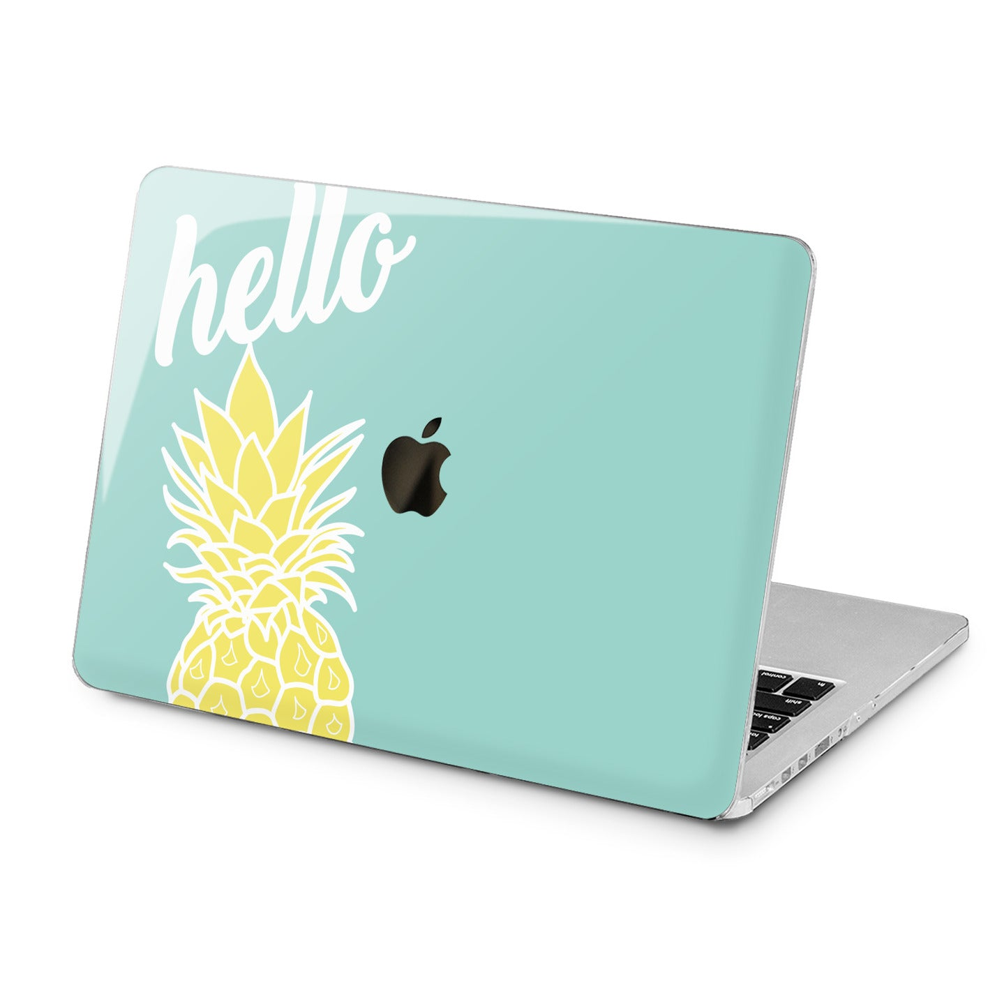 Lex Altern Lex Altern Yellow Quote Pineapple Print Case for your Laptop Apple Macbook.