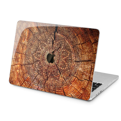 Lex Altern Lex Altern Beautiful Brown Mandala Case for your Laptop Apple Macbook.