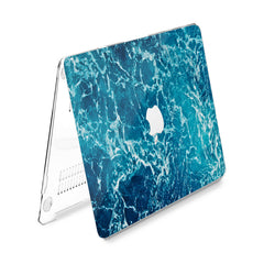 Lex Altern Hard Plastic MacBook Case Blue Water