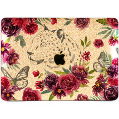 Lex Altern MacBook Glitter Case Leopard Roses