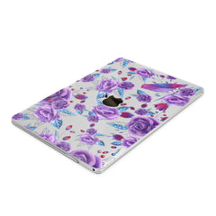 Lex Altern Hard Plastic MacBook Case Violet Blossom