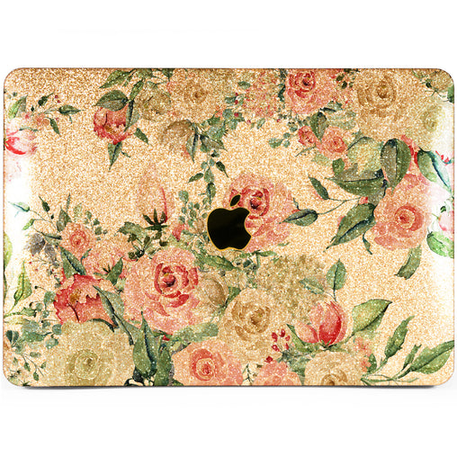 Lex Altern MacBook Glitter Case Pastel Roses