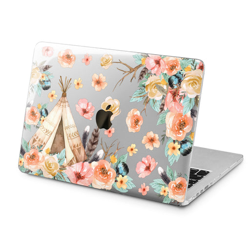 Lex Altern Lex Altern Boho Flowers Case for your Laptop Apple Macbook.