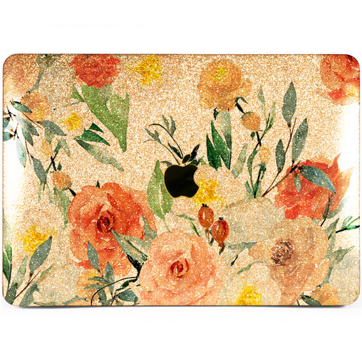 Lex Altern MacBook Glitter Case Orange Roses