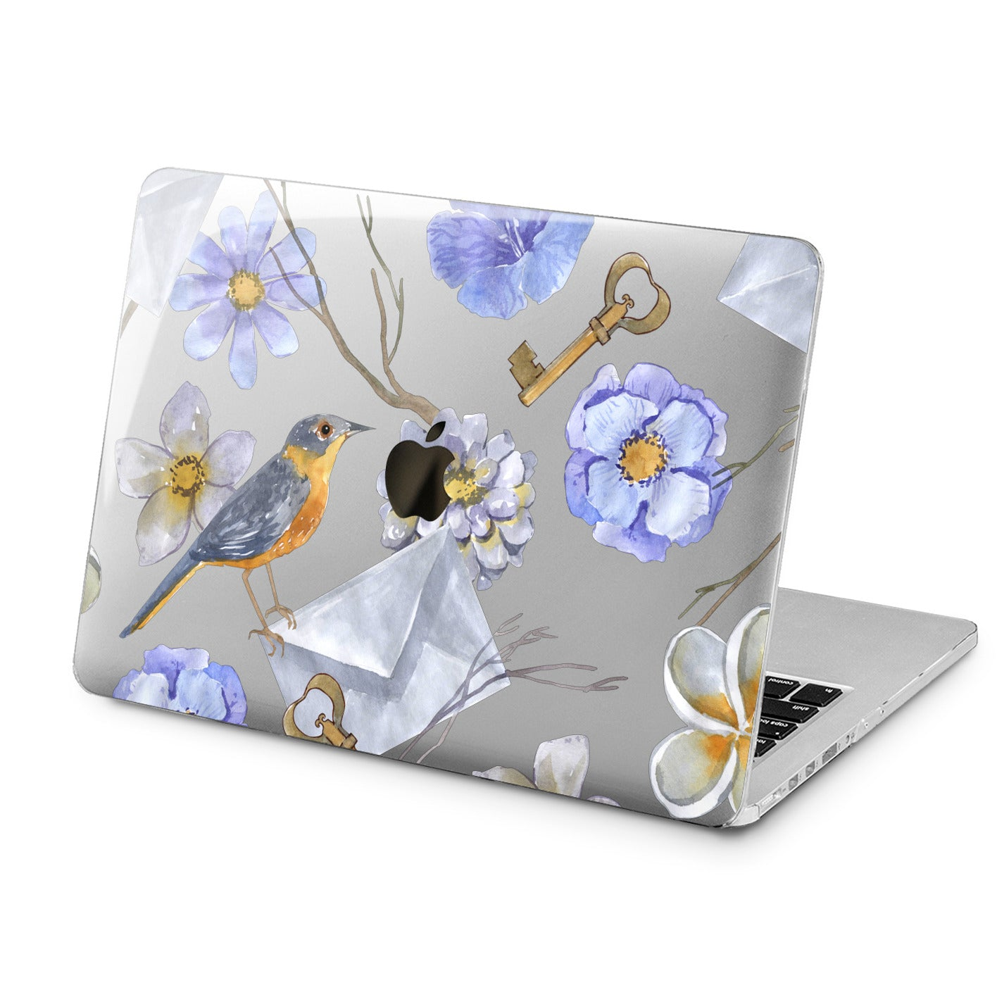 Lex Altern Lex Altern Floral Bird Case for your Laptop Apple Macbook.
