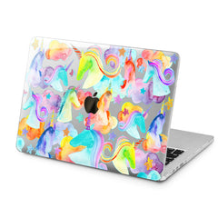 Lex Altern Lex Altern Colorful Unicorns Case for your Laptop Apple Macbook.