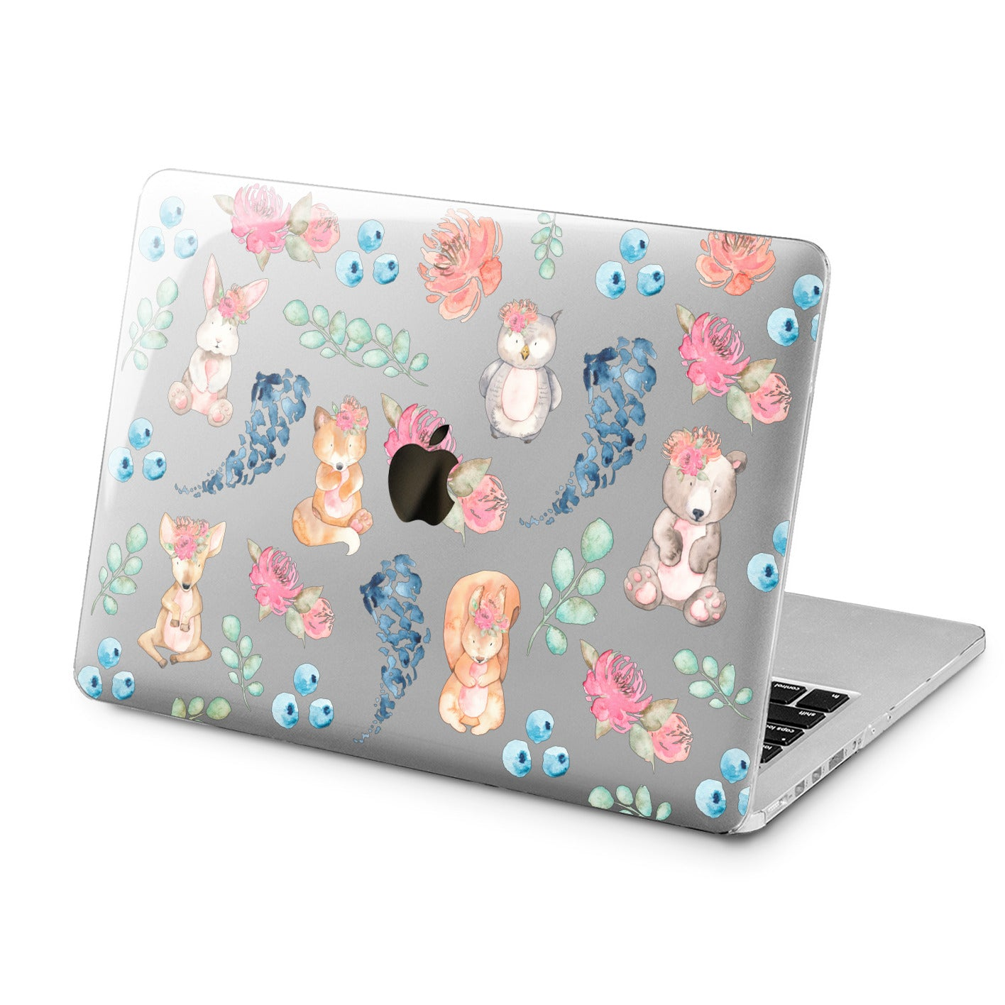 Lex Altern Lex Altern Animal Watercolor Case for your Laptop Apple Macbook.