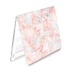 Lex Altern Hard Plastic MacBook Case Marble Monstera