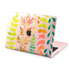 Lex Altern Hard Plastic MacBook Case Colorful Leaves
