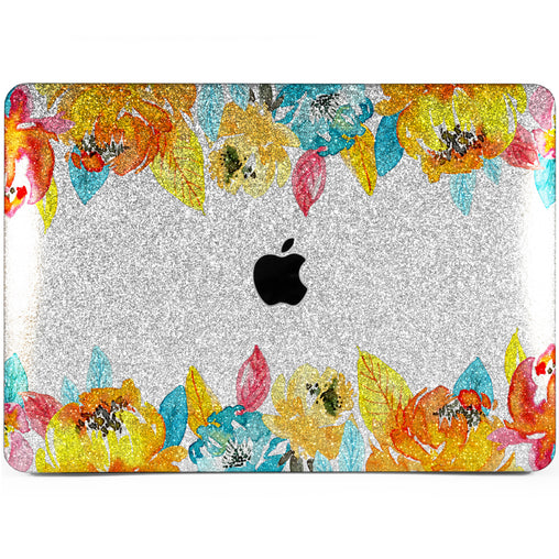 Lex Altern MacBook Glitter Case Autumn Flowers