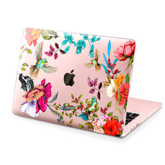 Lex Altern Hard Plastic MacBook Case Floral Birds