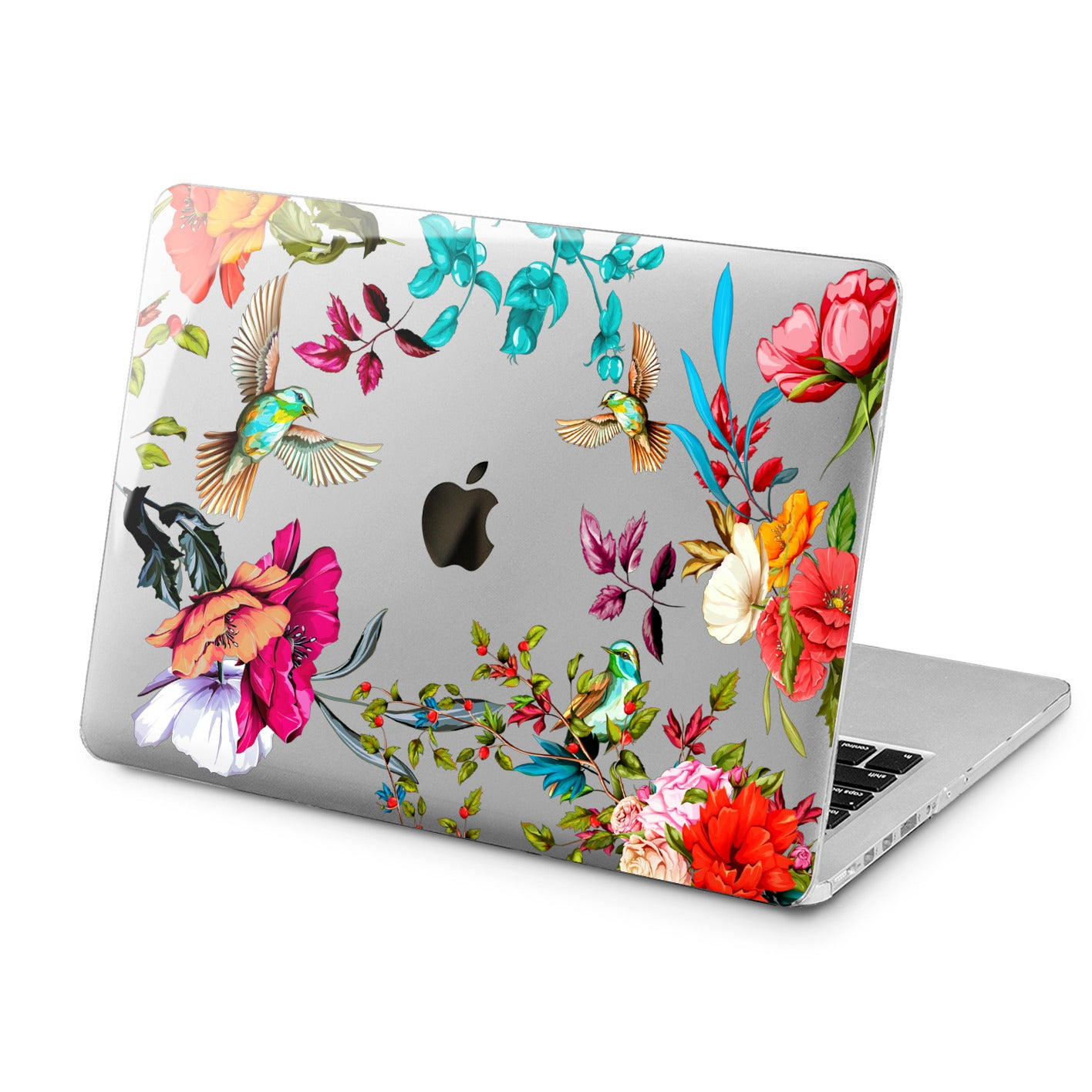 Lex Altern Lex Altern Floral Birds Case for your Laptop Apple Macbook.