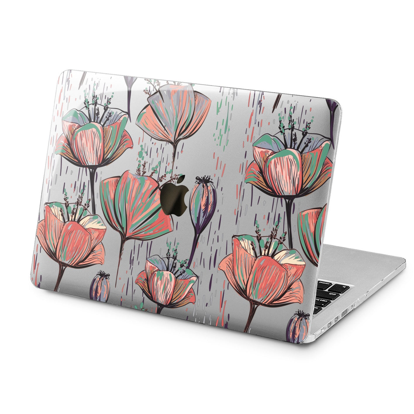 Lex Altern Lex Altern Poppies Theme Case for your Laptop Apple Macbook.