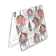 Lex Altern Hard Plastic MacBook Case Poppies Theme