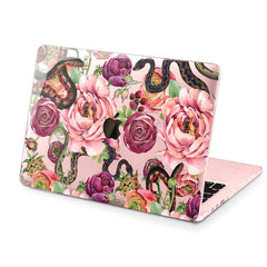 Lex Altern Hard Plastic MacBook Case Beautiful Floral Snakes