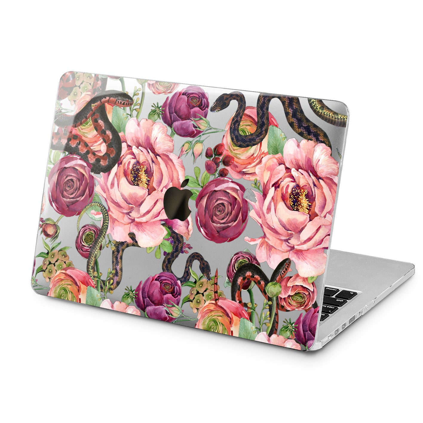 Lex Altern Lex Altern Beautiful Floral Snakes Case for your Laptop Apple Macbook.