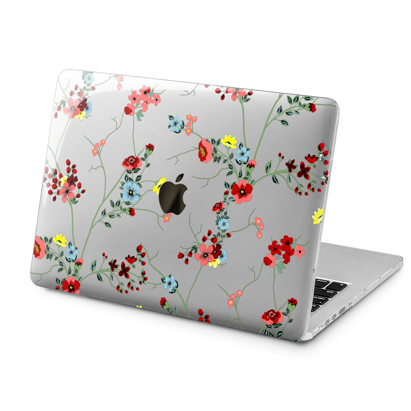 Lex Altern Lex Altern Red Wildflowers Case for your Laptop Apple Macbook.