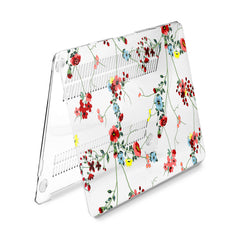Lex Altern Hard Plastic MacBook Case Red Wildflowers