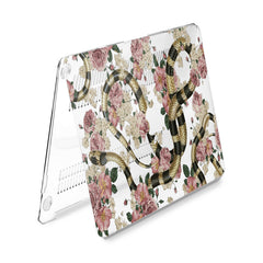 Lex Altern Hard Plastic MacBook Case Roses Snake Theme