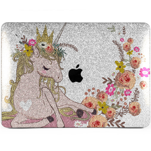 Lex Altern MacBook Glitter Case Adorable Unicorn