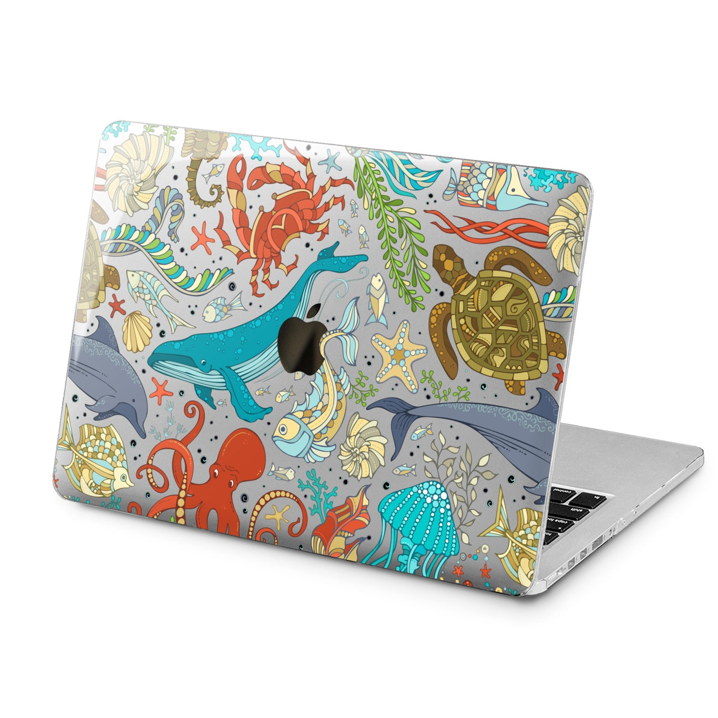 Lex Altern Lex Altern Ocean Animals Print Case for your Laptop Apple Macbook.