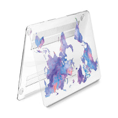 Lex Altern Hard Plastic MacBook Case Continental Map