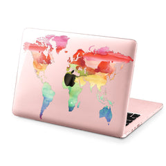 Lex Altern Hard Plastic MacBook Case Colorful Map