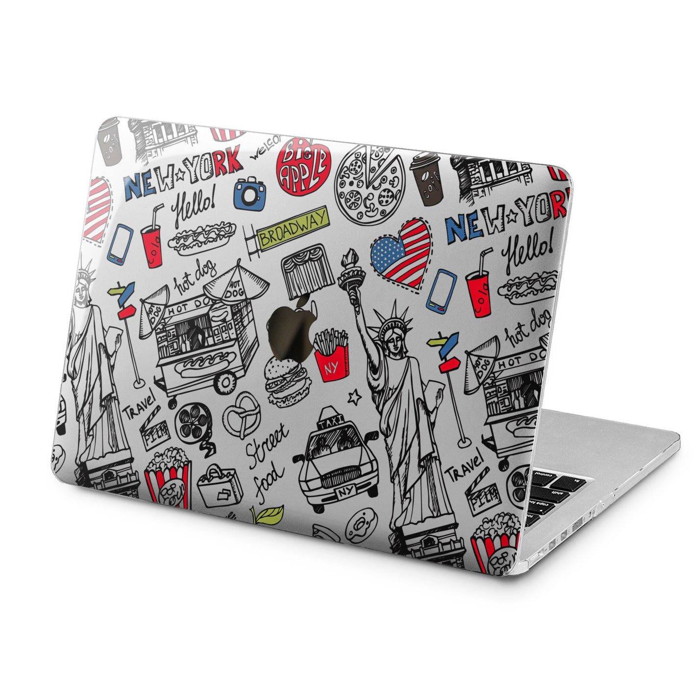 Lex Altern Lex Altern American Street Sketch Case for your Laptop Apple Macbook.